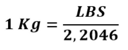 Công thức chuyển đổi pound sang kg