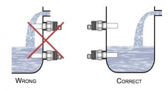 cách lắp đặt cảm biến điện dung đo mức dầu Diesel,