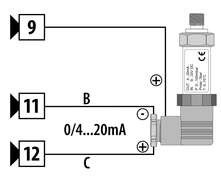 Cách đấu dây cảm biến áp suất 3 dây