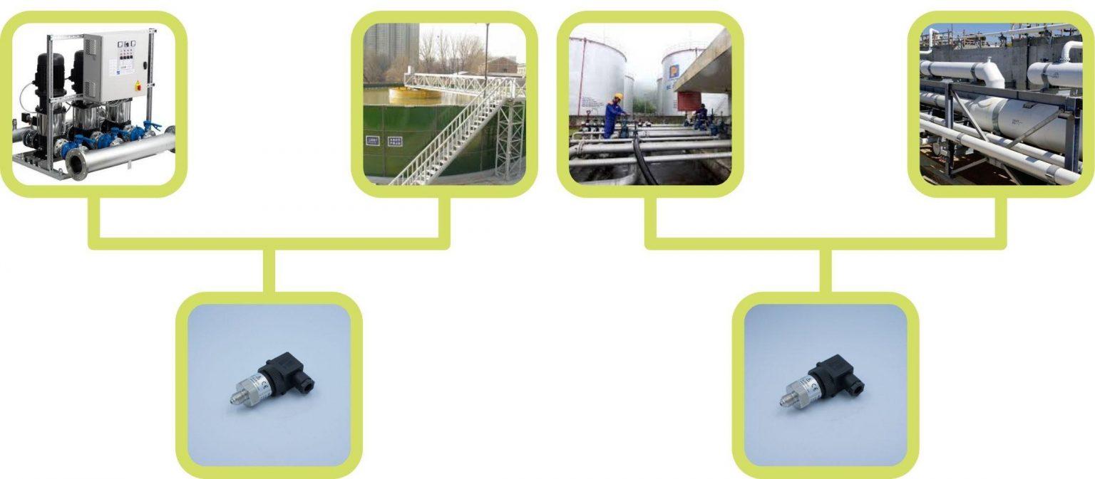 Cảm biến áp suất nước trong nhà máy xử lý nước