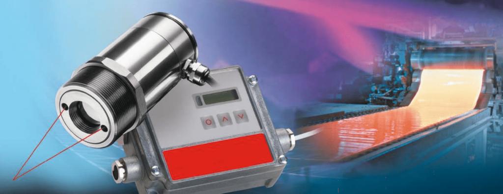 Ứng dụng đo nhiệt độ bề mặt thép nóng chảy