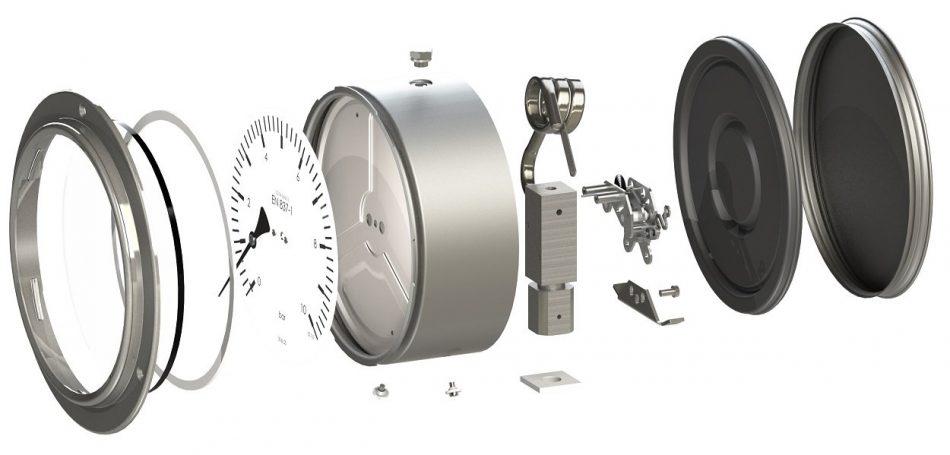 cấu tạo đồng hồ đo áp suất nước