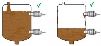 cách lắp đặt cảm biến báo mức nước chất kết dính-keo-xi măng-bùn