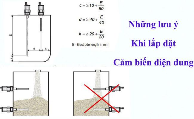 Cách lắp cảm biến điện dung