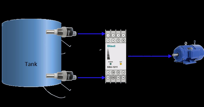Cách lắp cảm biến điện dụng ngang