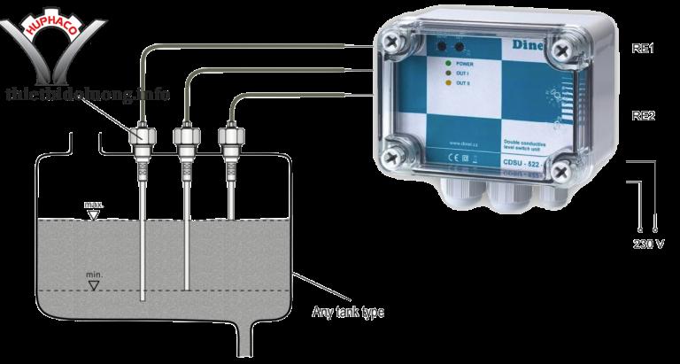 Công tắc cảm biến mực nước 3 que CNP-18 - Dinel Czech