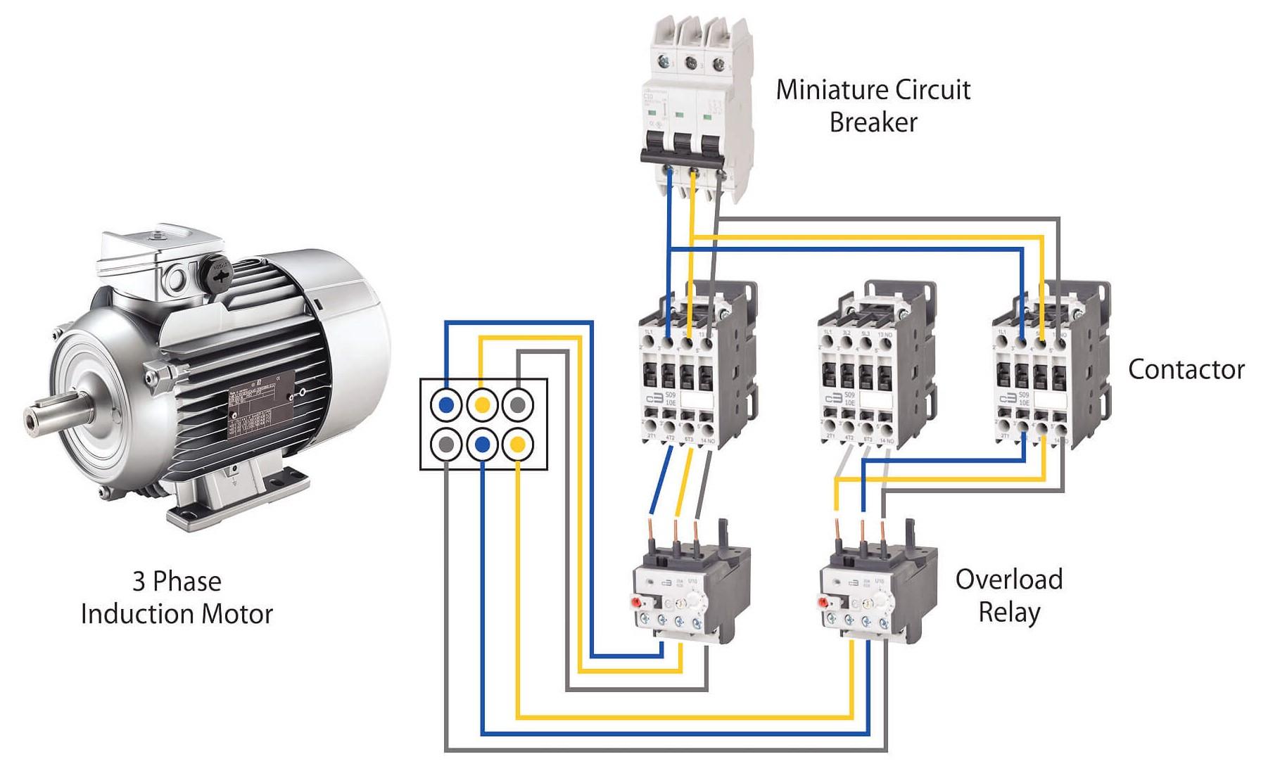 Mạch điện điều khiển dùng khởi động từ contactor
