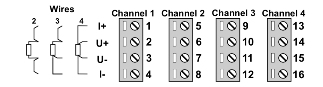 kết nối bộ chuyển đổi Pt100 ra Modbus RTU