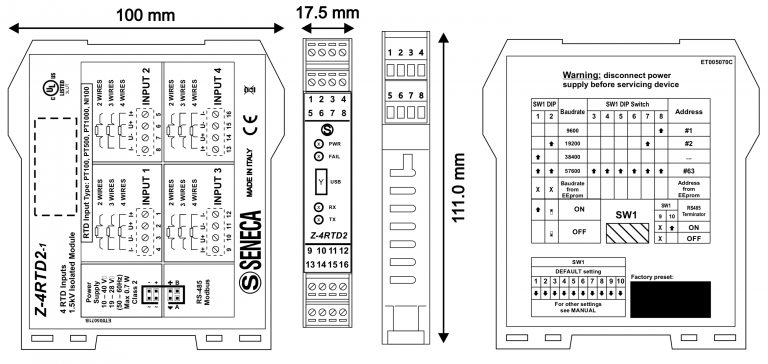 Sơ đồ kết nối Z-4RTD2-1