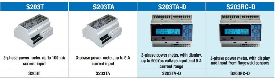 các sản phẩm đo đếm điện năng s203