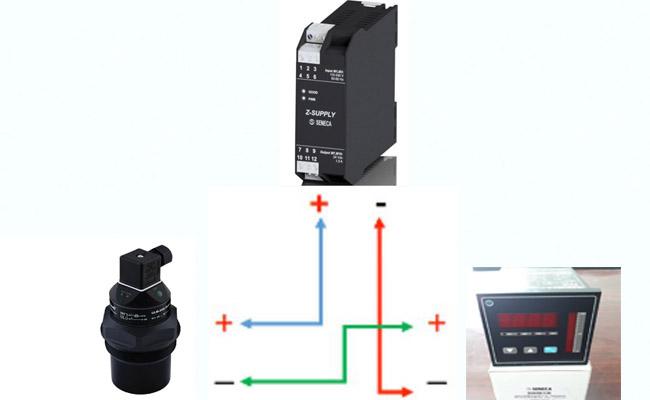 đấu nối cảm biến siêu âm với bộ hiển thị
