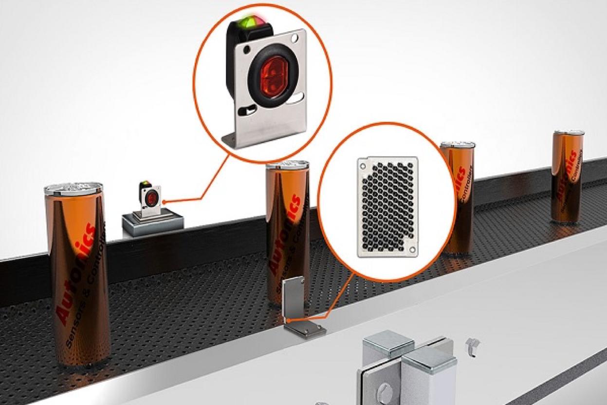 Ứng dụng cảm biến quang trên băng chuyền lon đồ uống