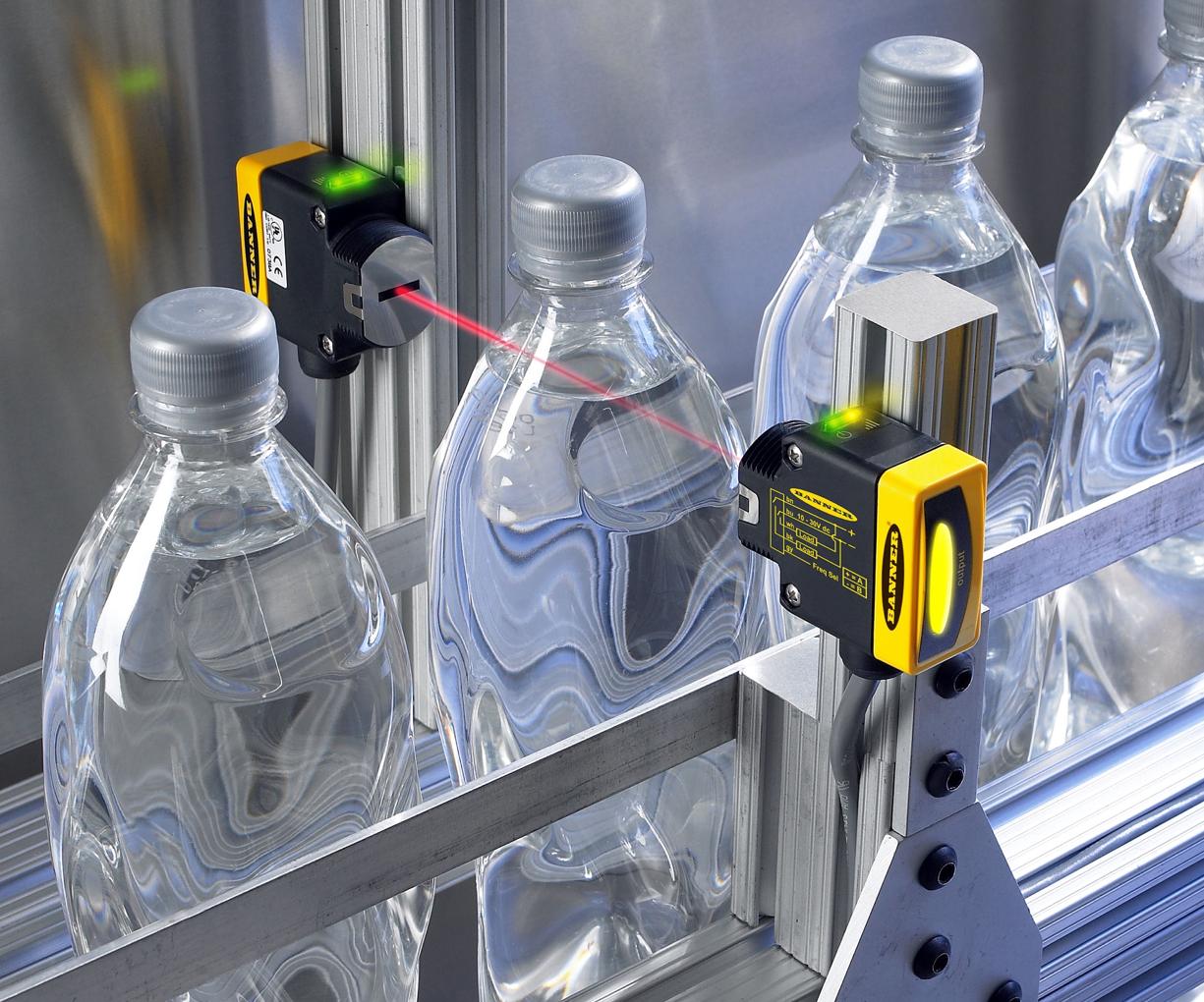 Ứng dụng cảm biến quang phát hiện vỏ chai