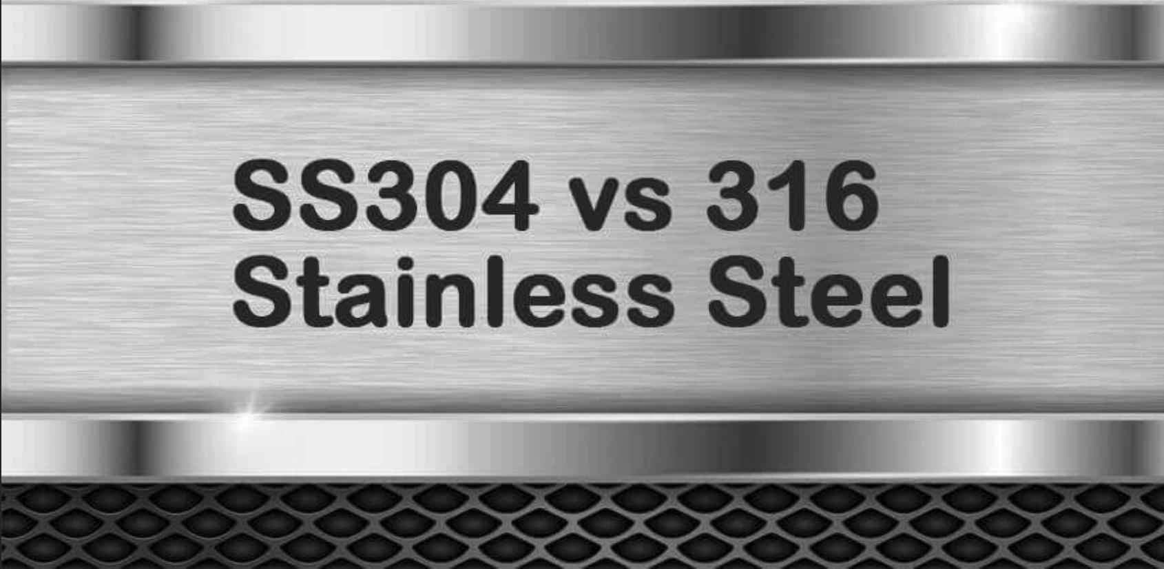 Sự khác nhau giữa inox 304 và inox 316