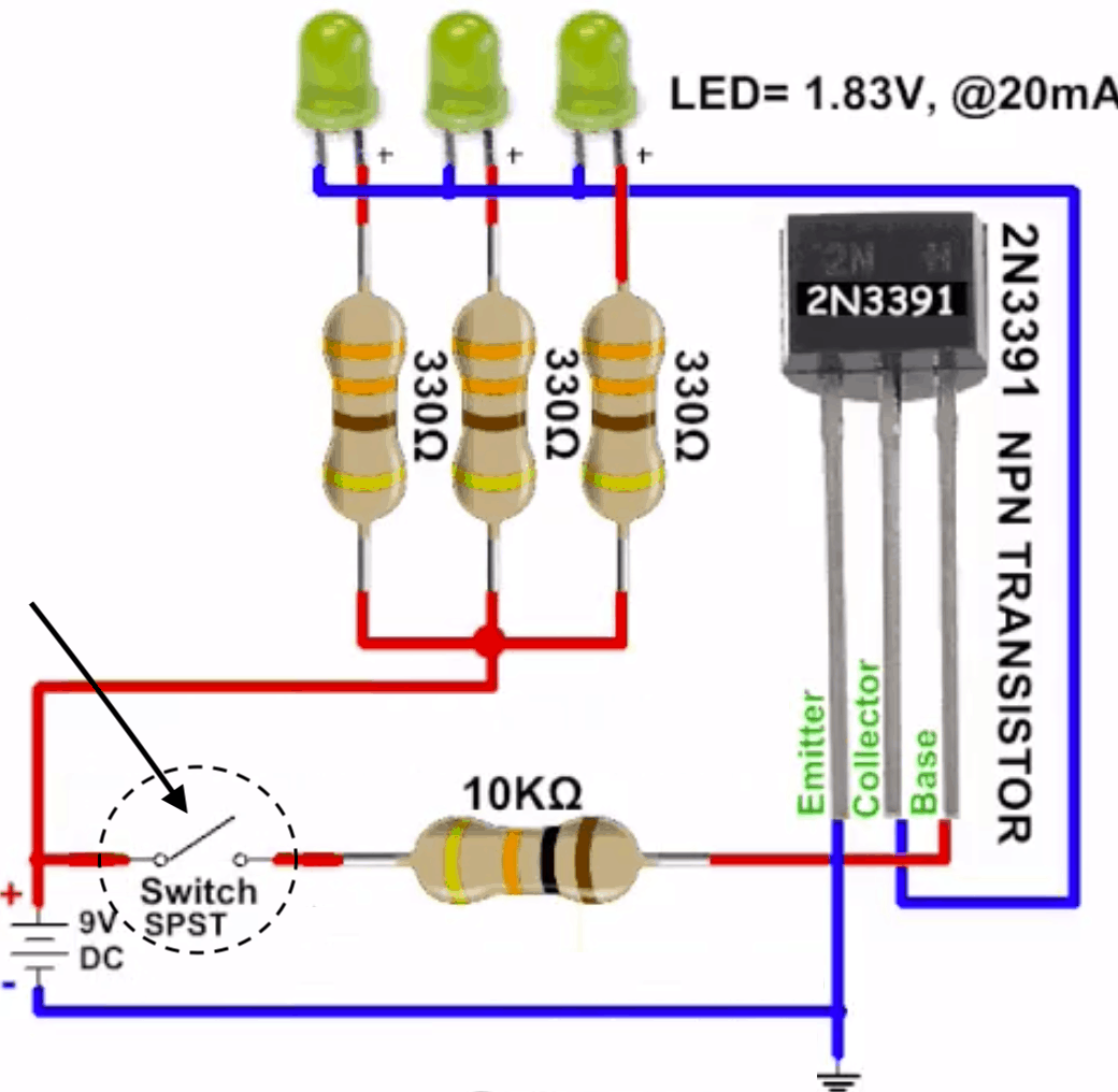 Cách Thức Transistor Hoạt Động Để Đóng Ngắt Mạch Điều Khiển