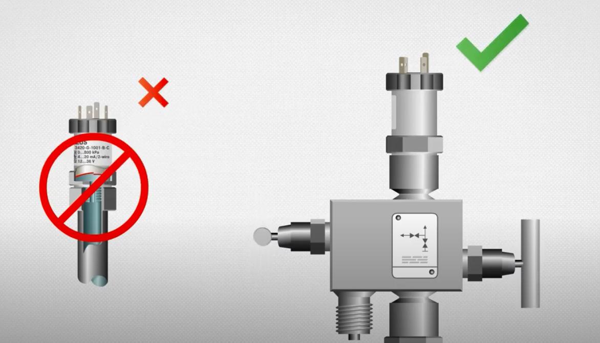 Sử dụng Manifold để lắp cảm biến áp lực