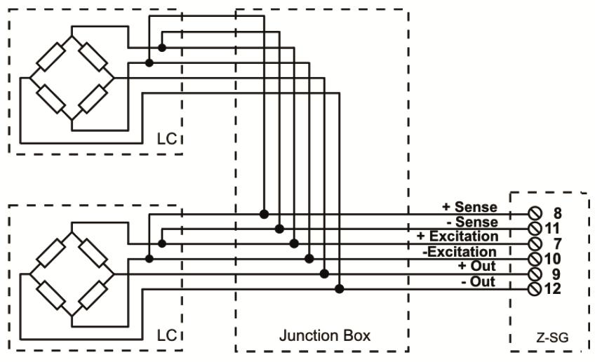 Kết nối Loadcell 6 dây với Z-SG