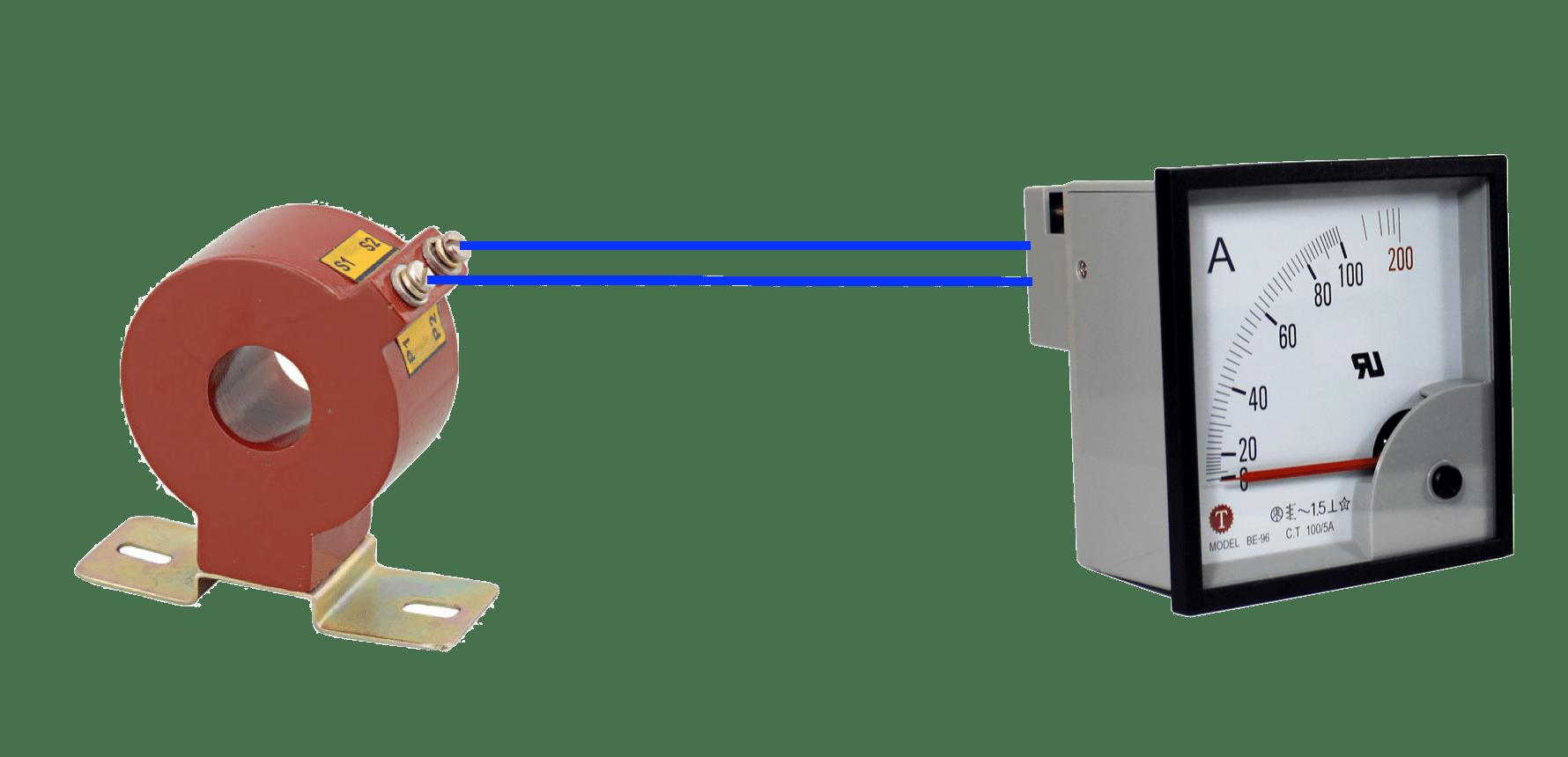 Cách đấu biến dòng với đồng hồ Ampe