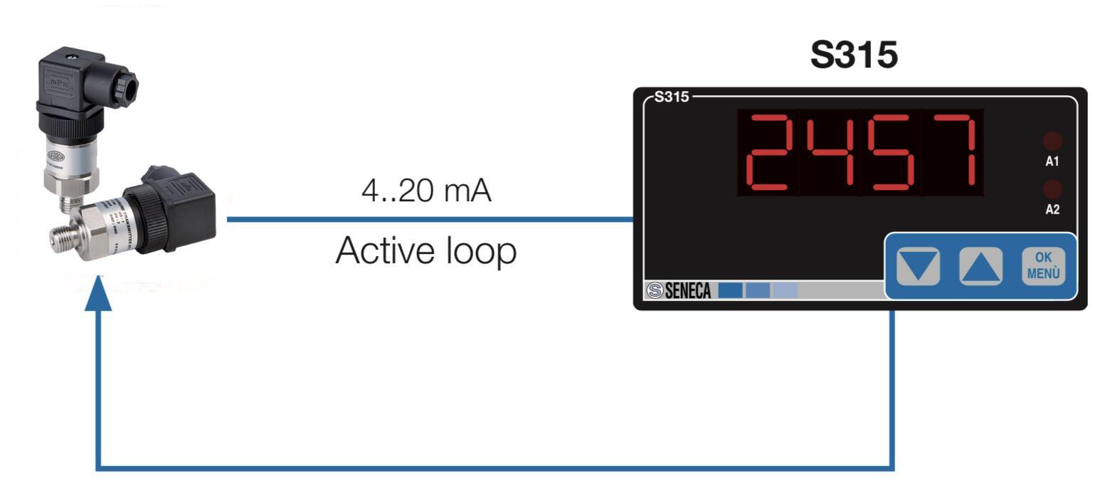 Đồng hồ hiển thị áp suất giúp chúng ta đọc được giá trị áp suất từ cảm biến