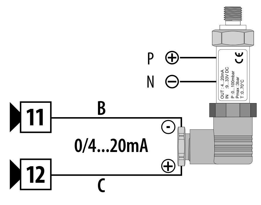 Cách đấu dây cảm biến áp suất 4 dây
