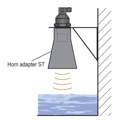 Lắp cảm biến siêu âm với bộ horn