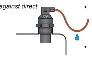 Thả dây chùng tránh nước vào thiết bị