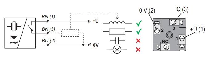 Tín hiệu ra P khi lắp cảm biến siêu âm
