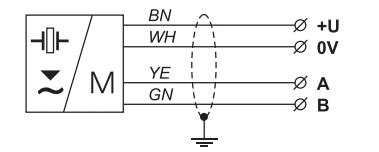 Lắp cảm biến siêu âm với tín hiệu ra RS485