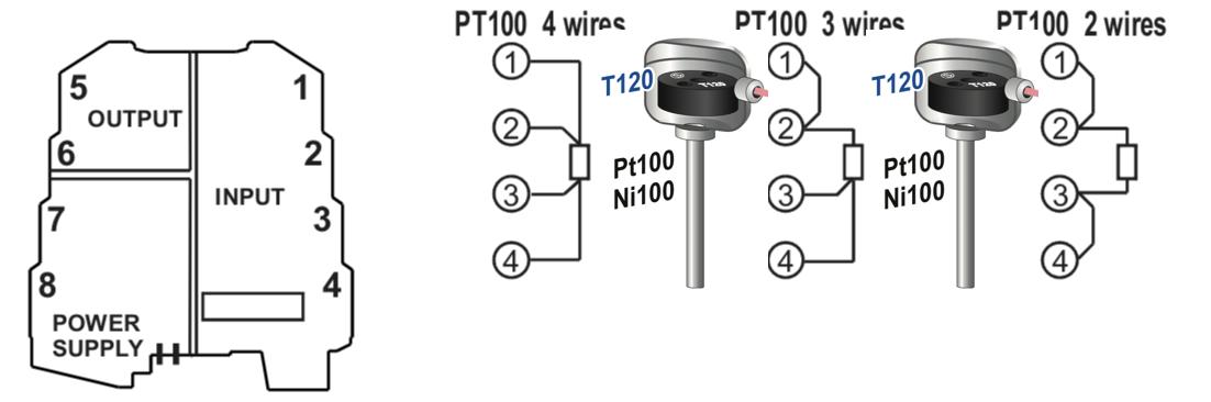 Kết nối Pt100 chính xác K109Pt